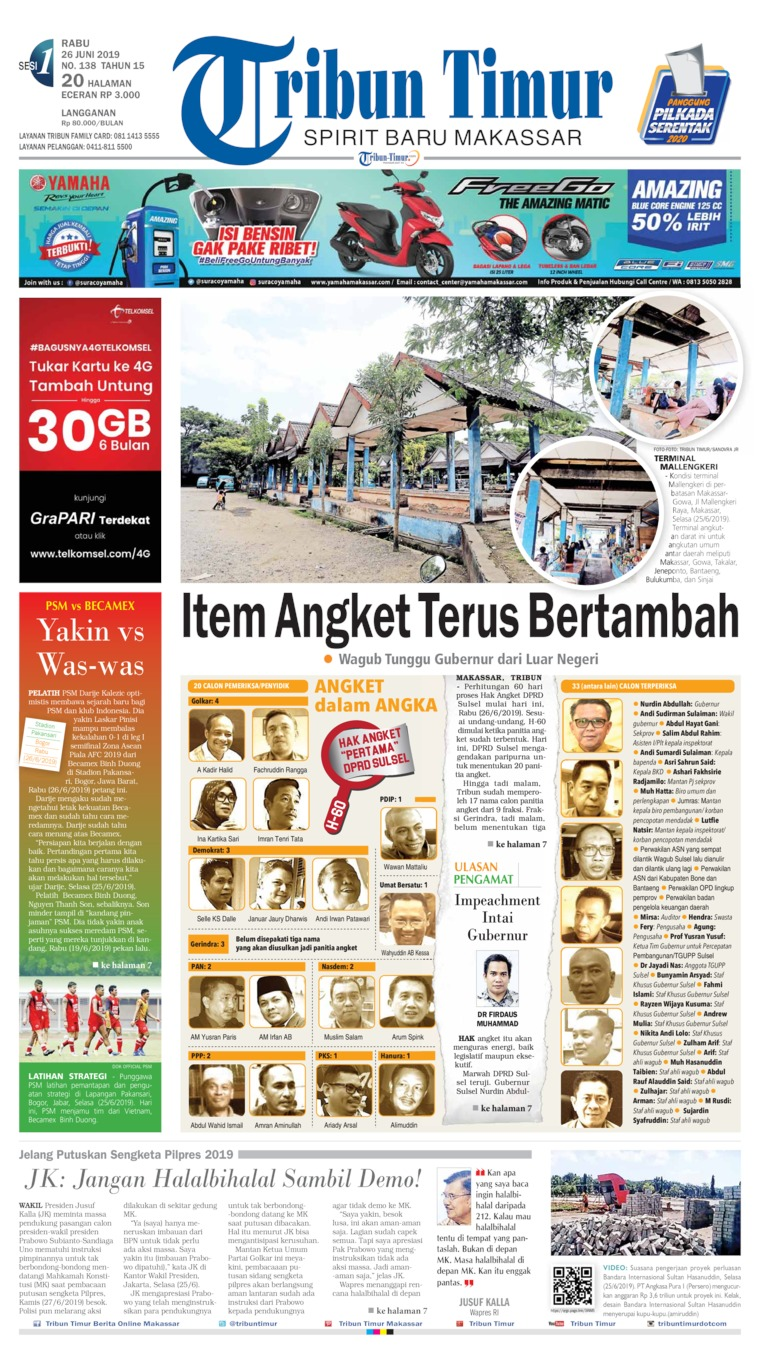 Tribun Timur Digital Newspaper 26 June 2019