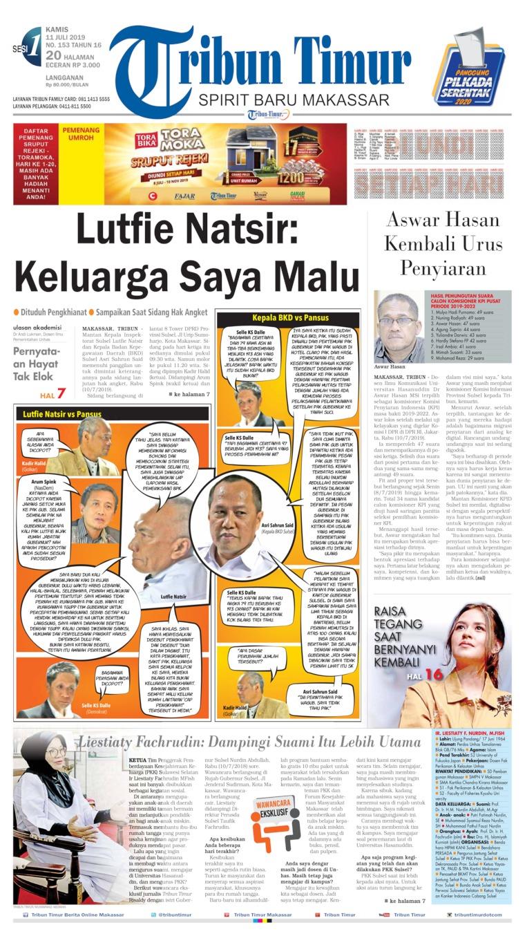 Tribun Timur Digital Newspaper 11 July 2019