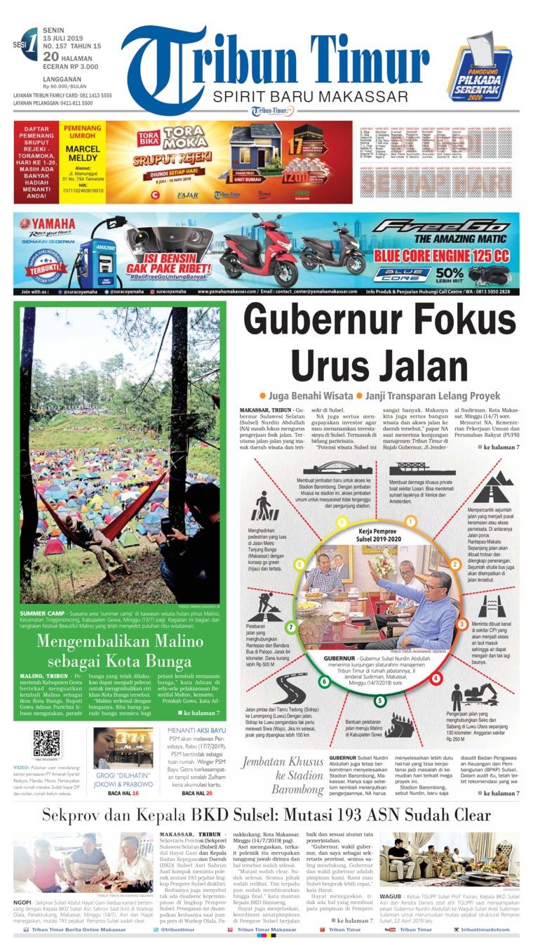 Tribun Timur Digital Newspaper 15 July 2019