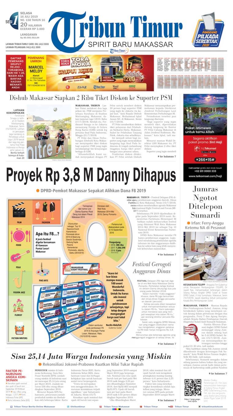 Tribun Timur Digital Newspaper 16 July 2019