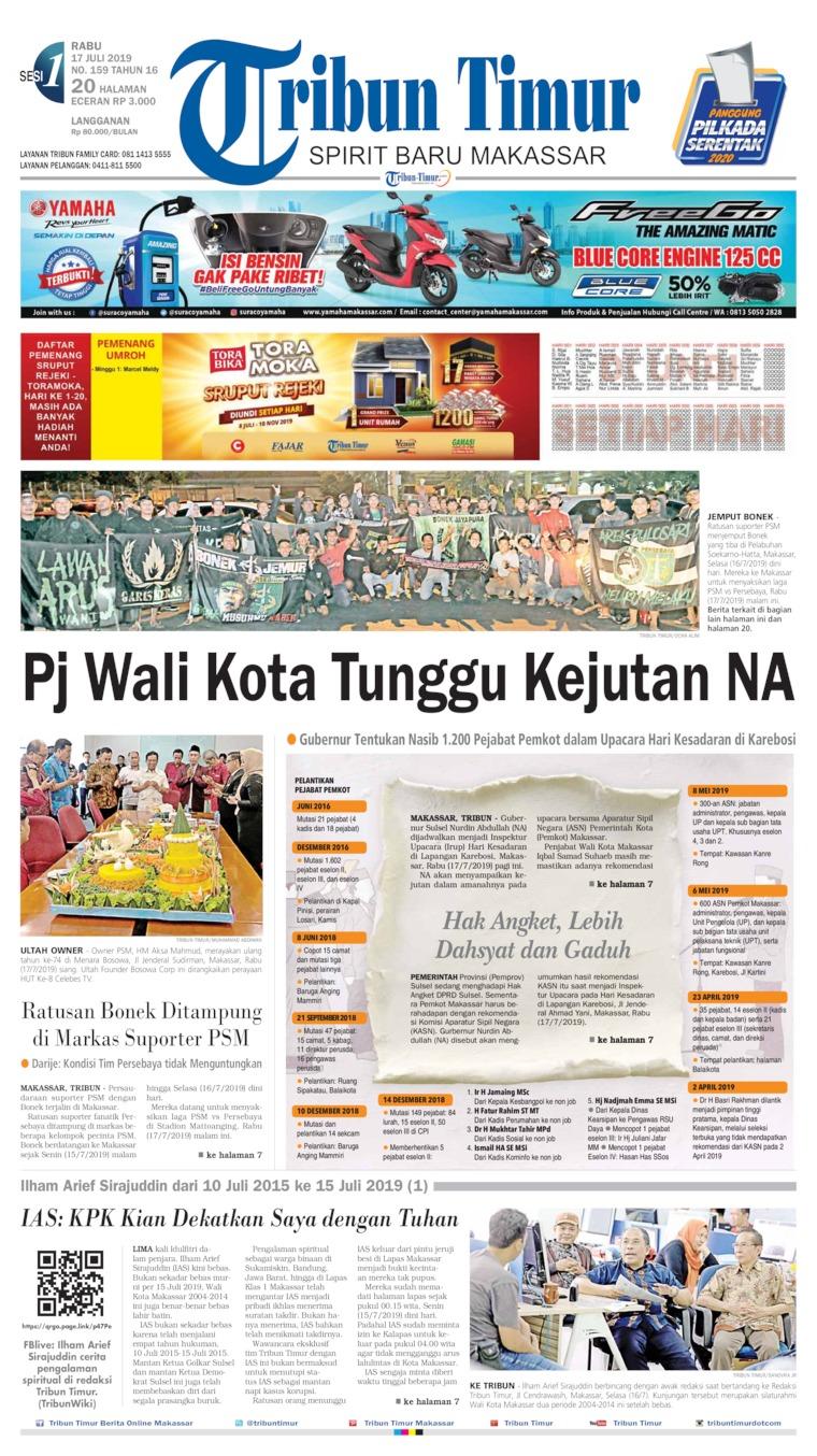 Tribun Timur Digital Newspaper 17 July 2019