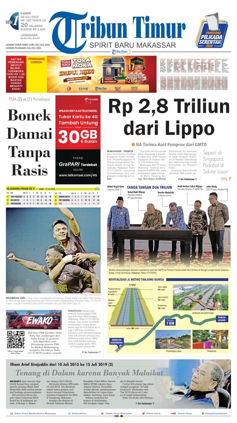 Tribun Timur Digital Newspaper 18 July 2019