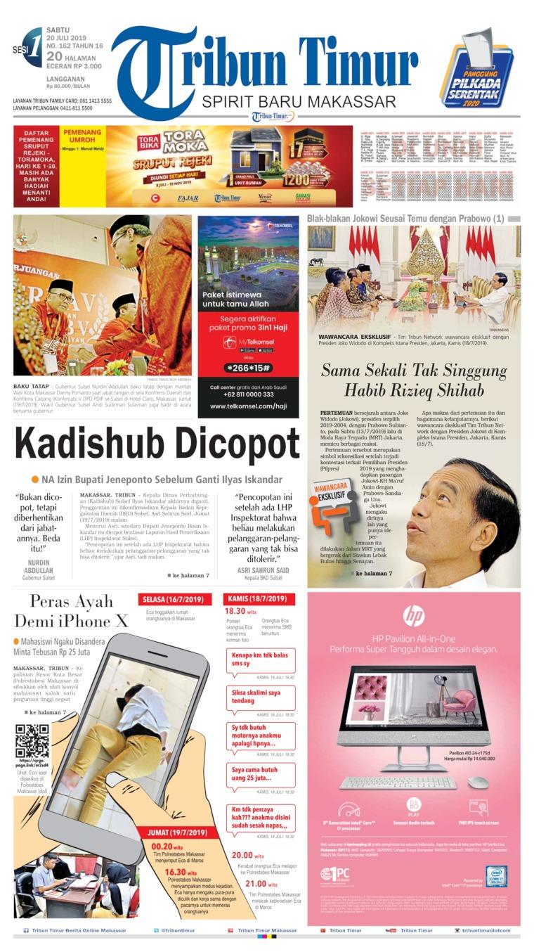 Tribun Timur Digital Newspaper 20 July 2019