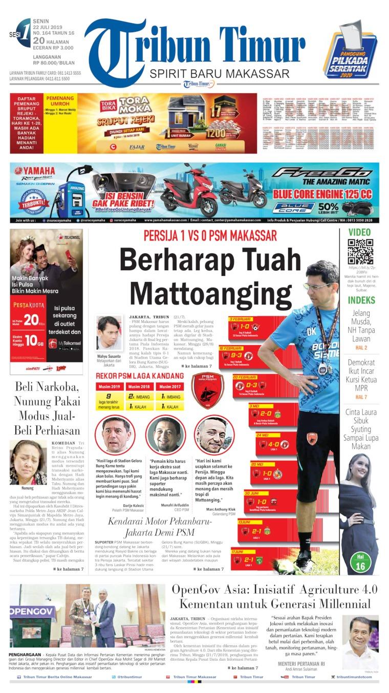 Tribun Timur Digital Newspaper 22 July 2019