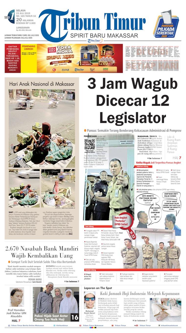 Tribun Timur Digital Newspaper 23 July 2019