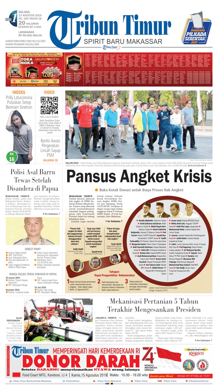 Tribun Timur Digital Newspaper 13 August 2019