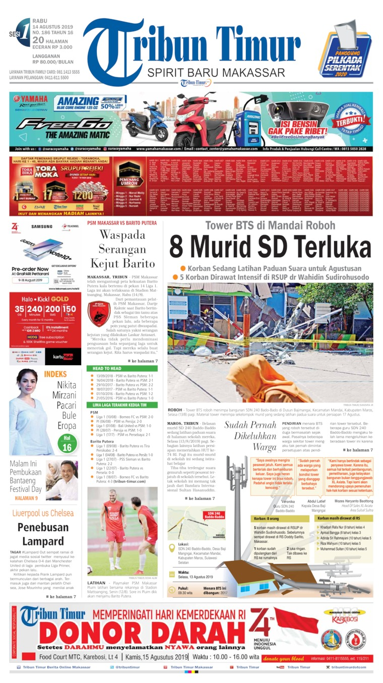 Tribun Timur Digital Newspaper 14 August 2019