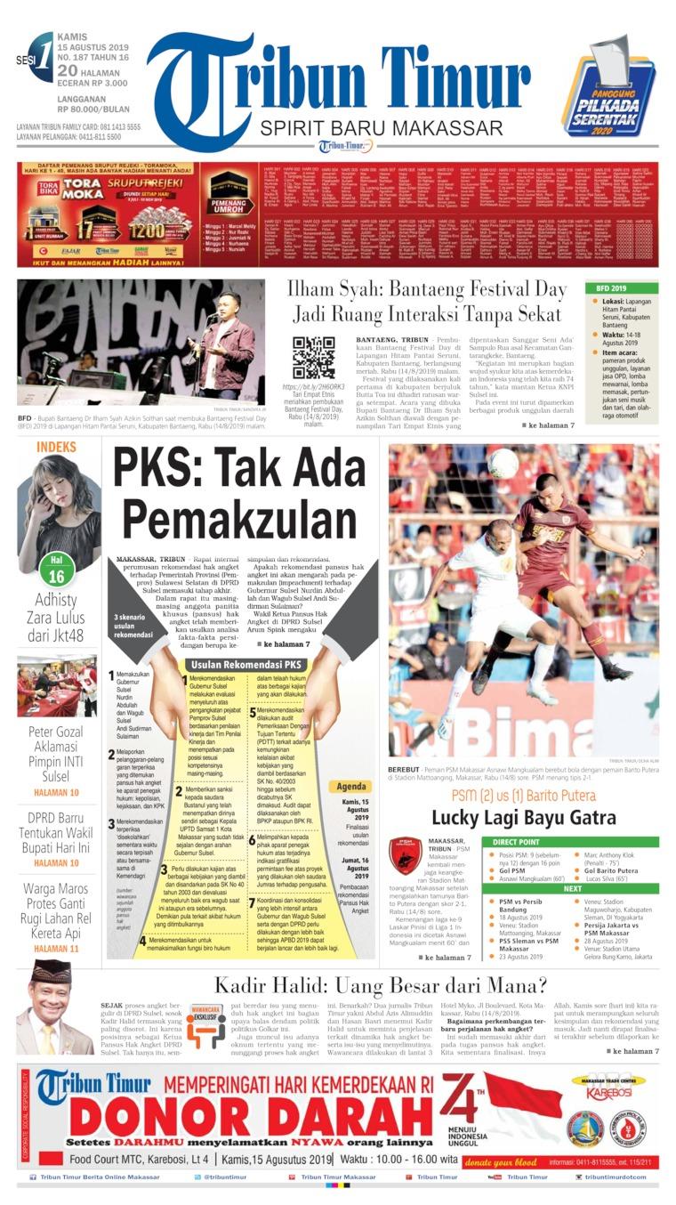 Koran Digital Tribun Timur 15 Agustus 2019