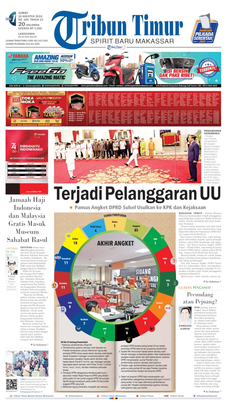 Tribun Timur Digital Newspaper 16 August 2019
