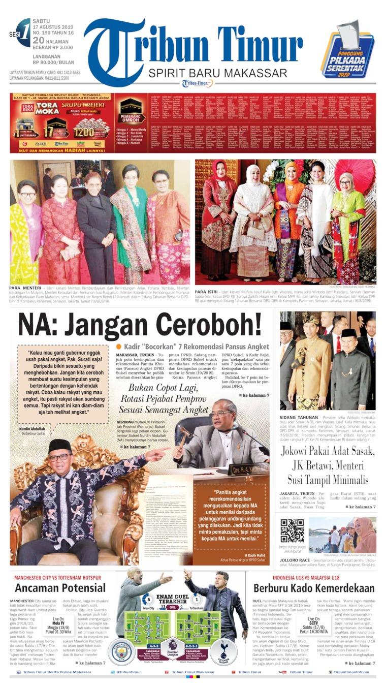 Tribun Timur Digital Newspaper 17 August 2019