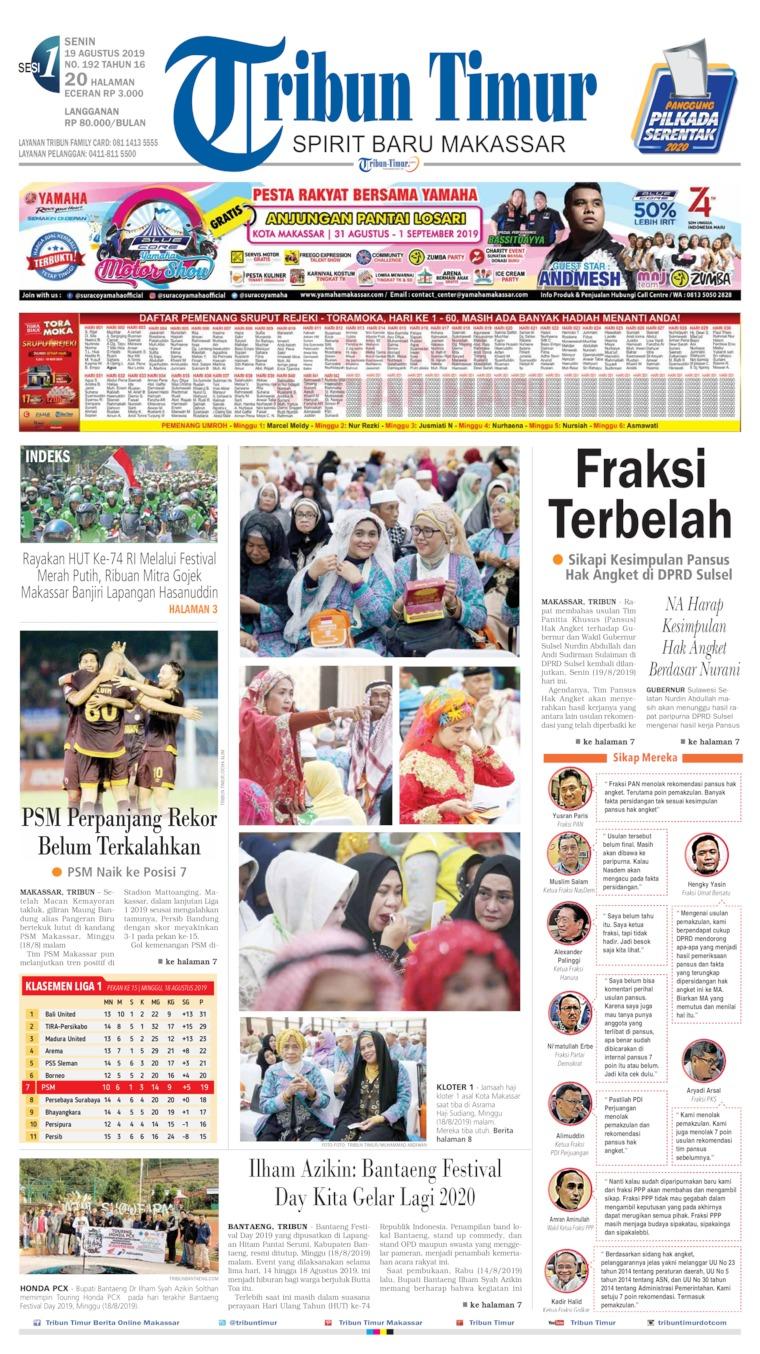 Koran Digital Tribun Timur 19 Agustus 2019