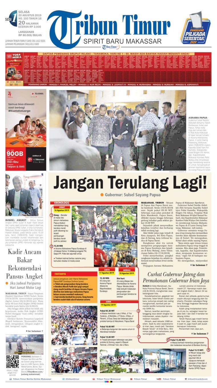 Koran Digital Tribun Timur 20 Agustus 2019