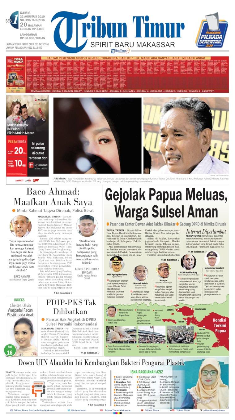 Tribun Timur Digital Newspaper 22 August 2019