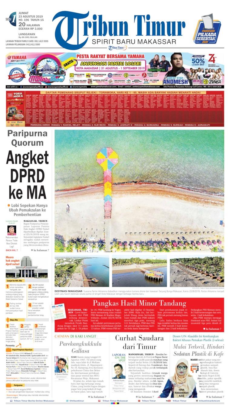 Tribun Timur Digital Newspaper 23 August 2019