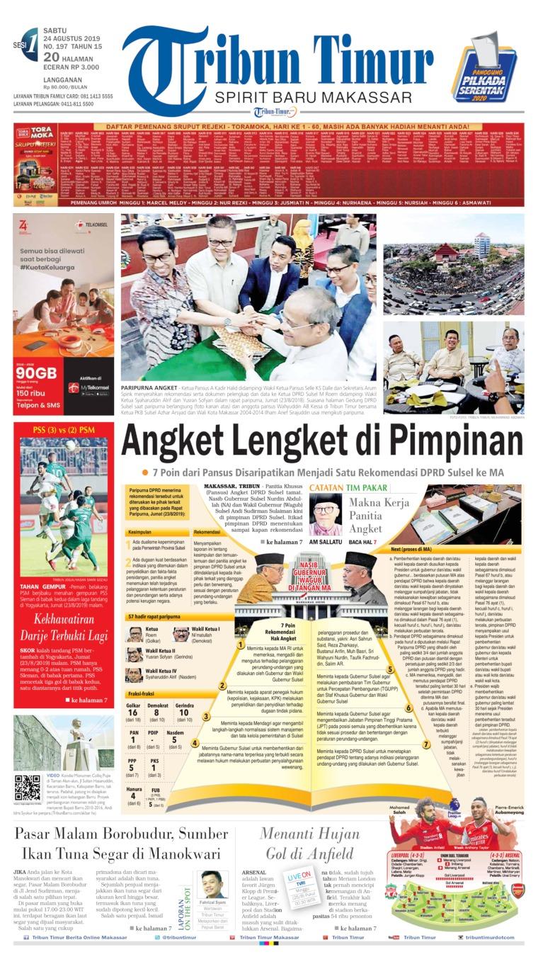 Tribun Timur Digital Newspaper 24 August 2019