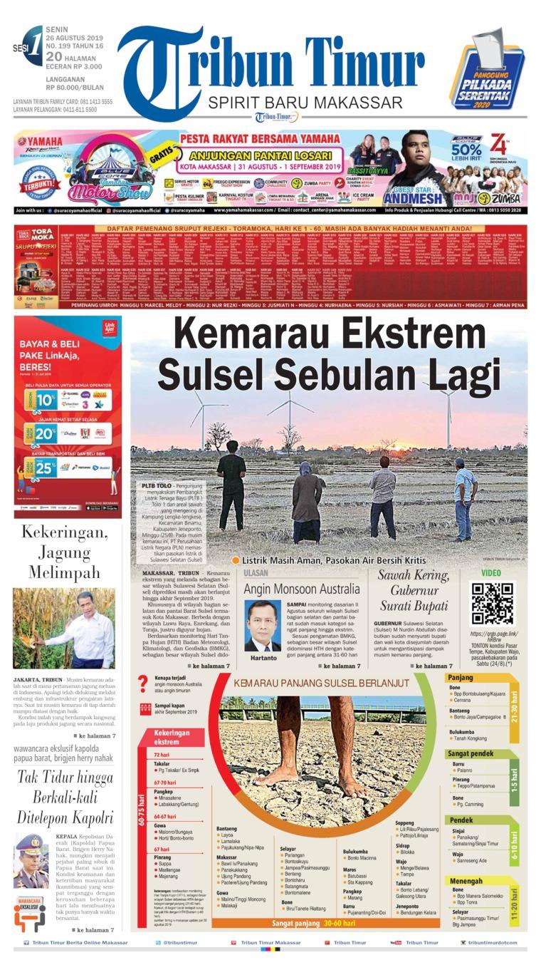 Tribun Timur Digital Newspaper 26 August 2019