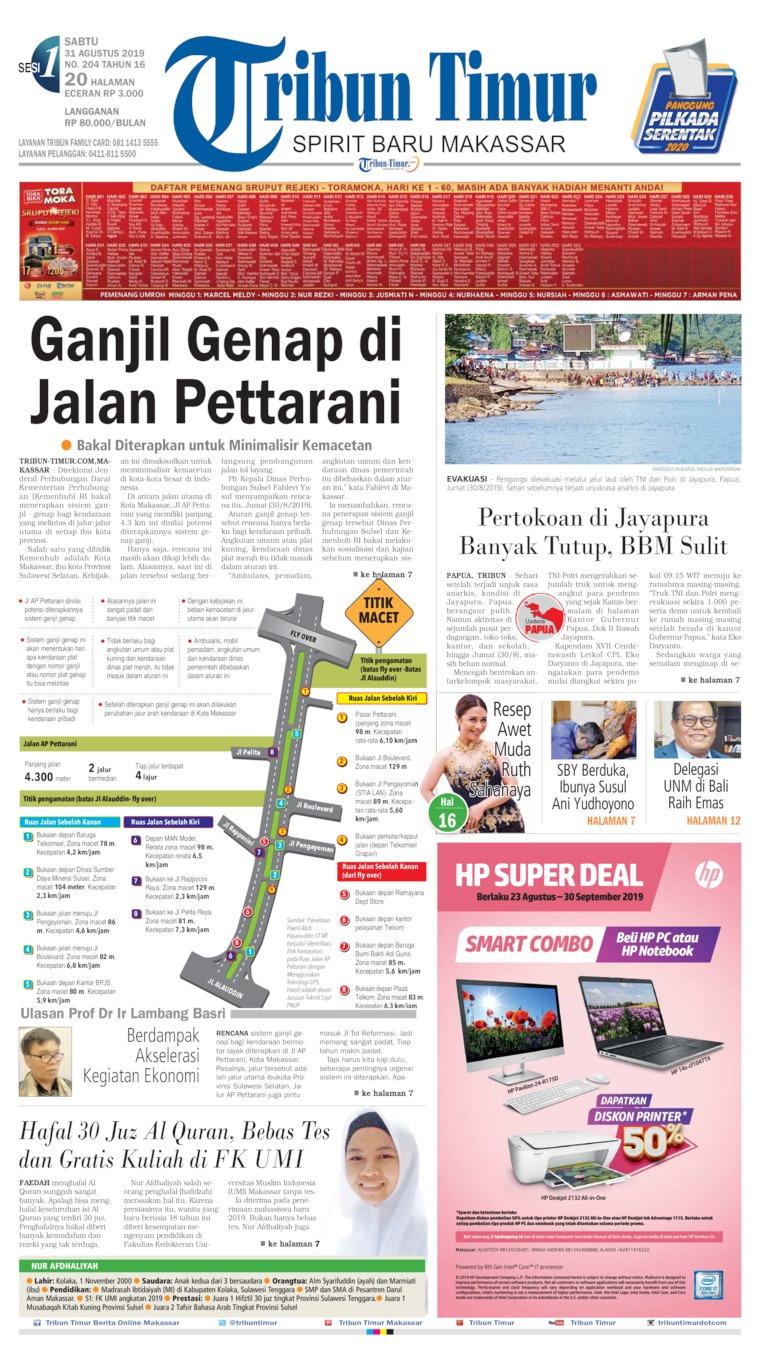 Koran Digital Tribun Timur 31 Agustus 2019