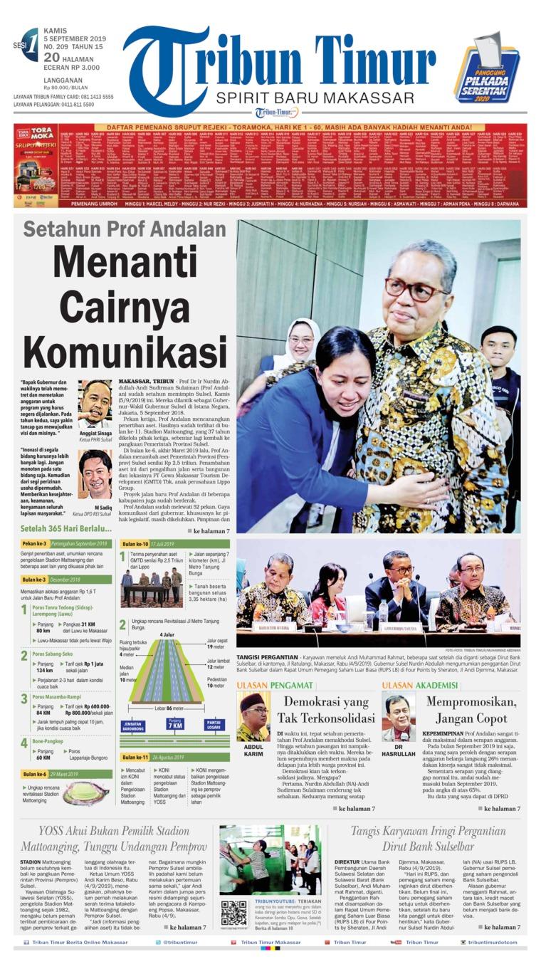 Koran Digital Tribun Timur 05 September 2019