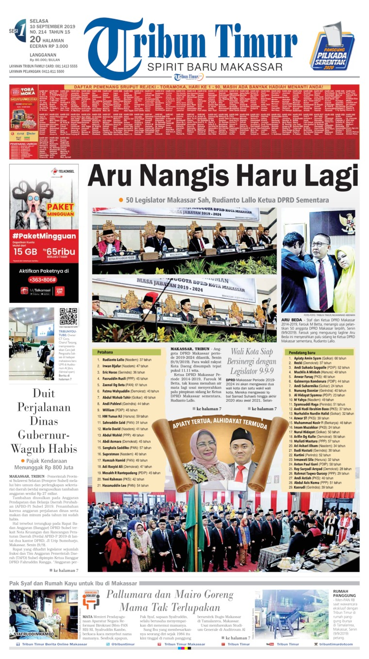 Koran Digital Tribun Timur 10 September 2019