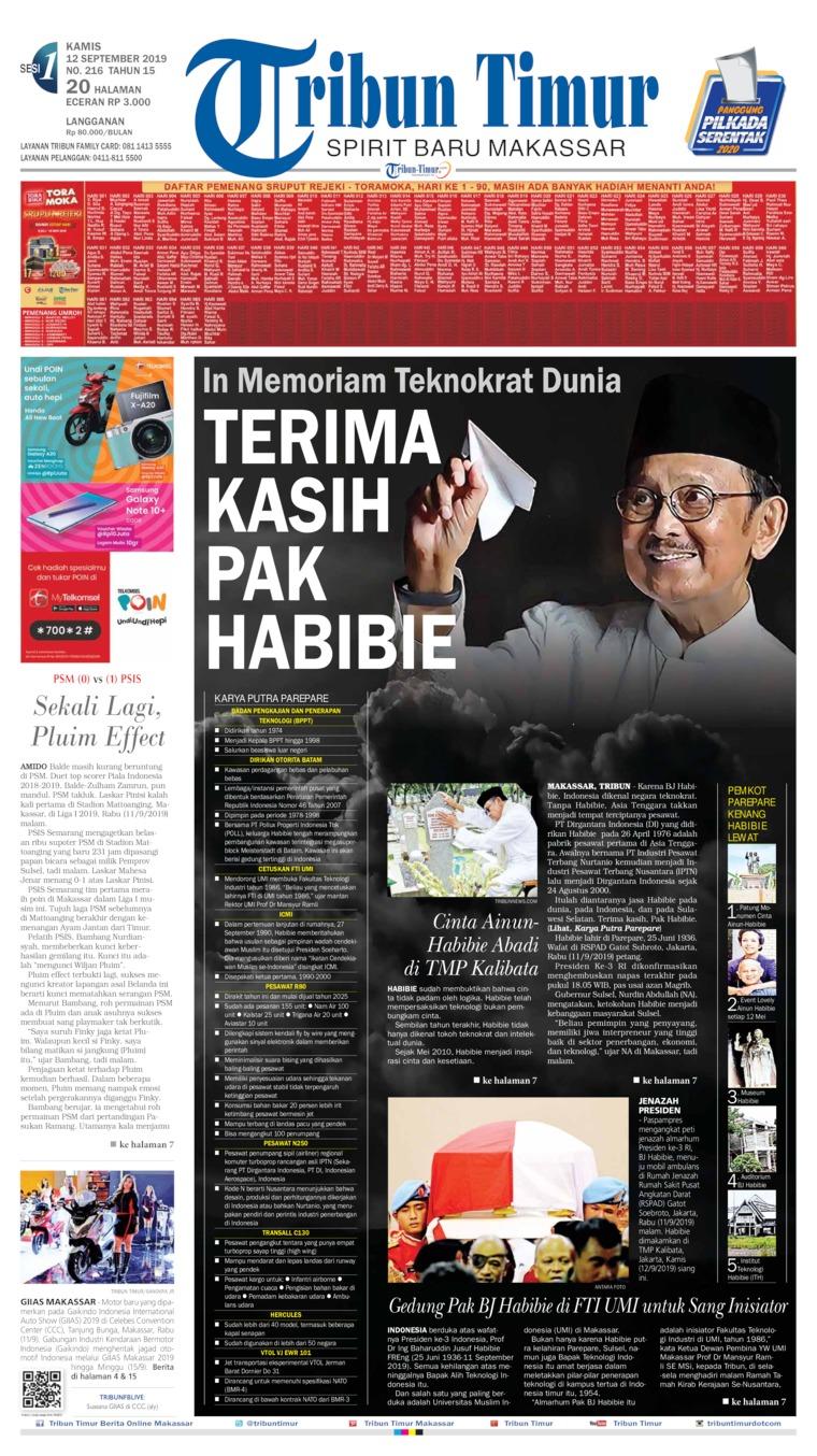 Koran Digital Tribun Timur 12 September 2019