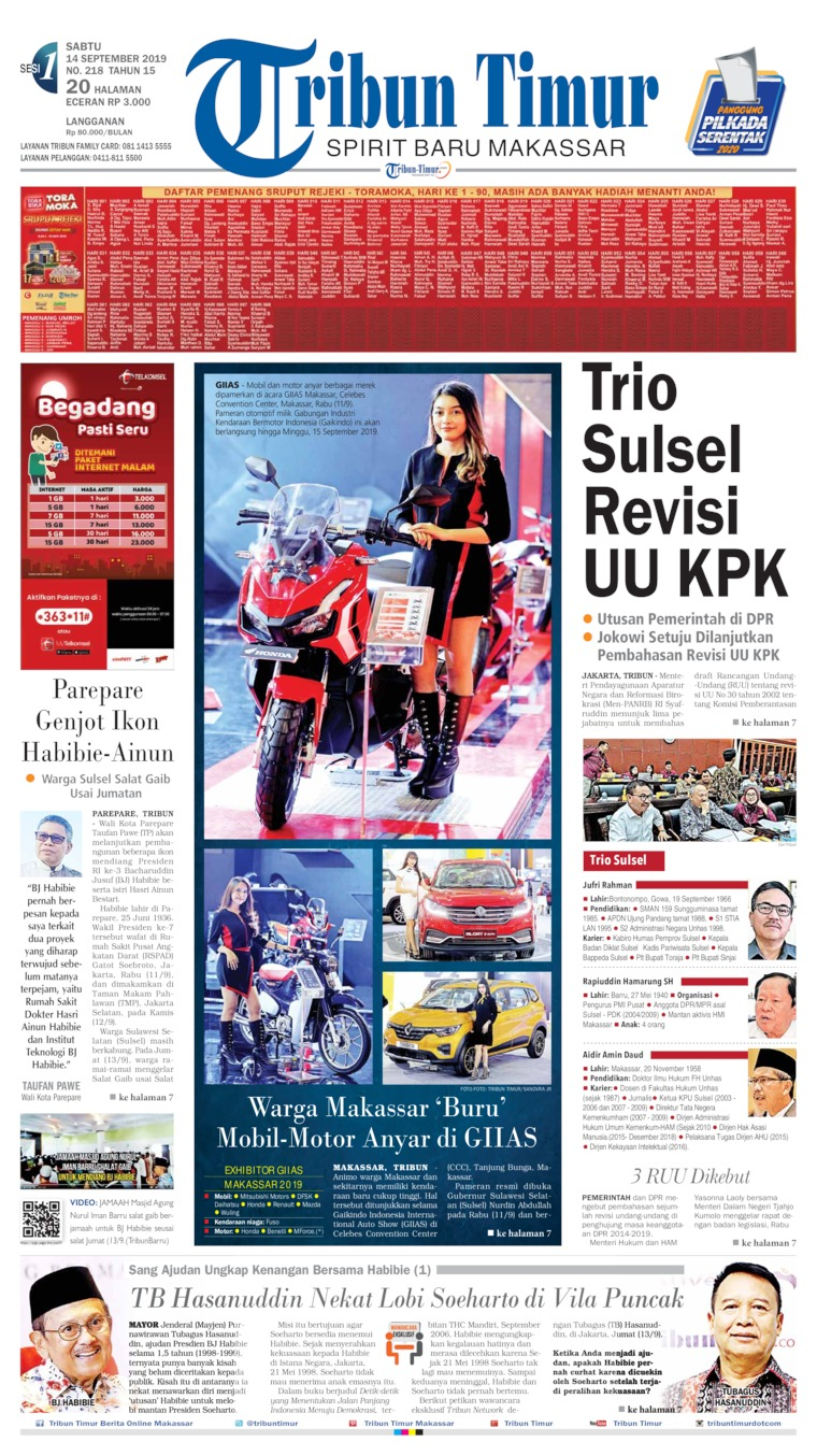 Koran Digital Tribun Timur 14 September 2019