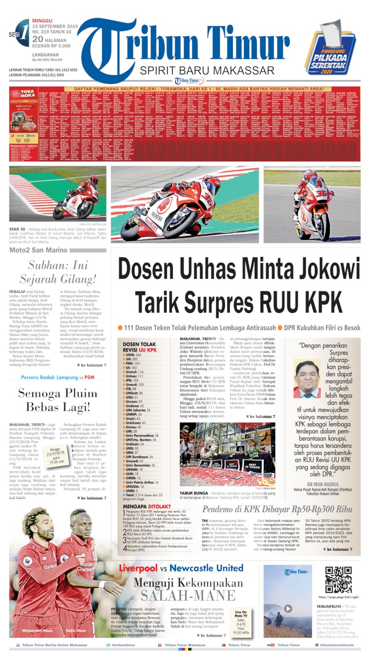 Koran Digital Tribun Timur 15 September 2019