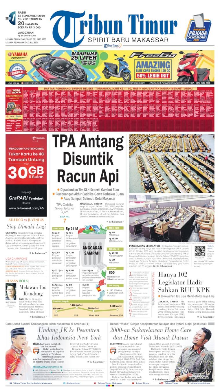 Koran Digital Tribun Timur 18 September 2019