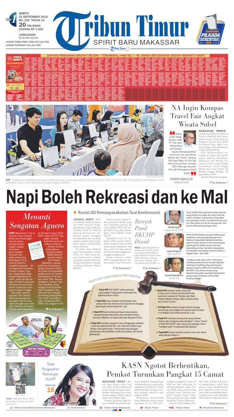 Tribun Timur Digital Newspaper 21 September 2019