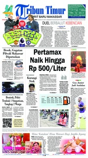 Tribun Timur Cover 25 February 2018