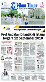 Cover Tribun Timur 13 Juli 2018