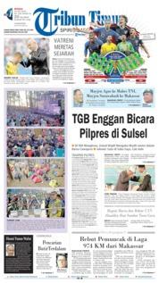 Cover Tribun Timur 15 Juli 2018