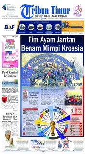 Cover Tribun Timur 16 Juli 2018