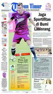 Cover Tribun Timur 23 September 2018