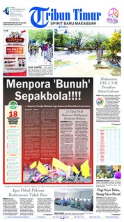 Cover Tribun Timur 26 September 2018