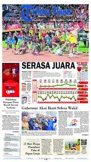 Cover Tribun Timur 20 Oktober 2018