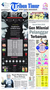 Tribun Timur Cover 15 November 2018