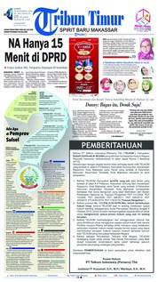 Cover Tribun Timur 22 November 2018