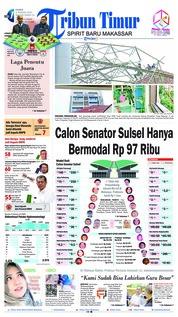 Cover Tribun Timur 03 Januari 2019