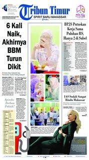 Cover Tribun Timur 06 Januari 2019