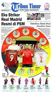 Cover Tribun Timur 15 Januari 2019