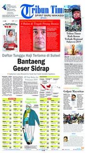 Cover Tribun Timur 08 Februari 2019