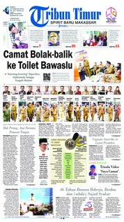 Cover Tribun Timur 23 Februari 2019