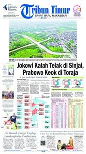 Cover Tribun Timur 11 Maret 2019