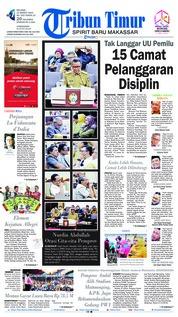 Cover Tribun Timur 12 Maret 2019
