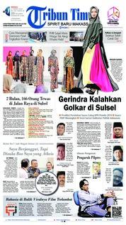 Cover Tribun Timur 17 Maret 2019