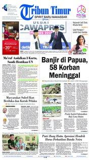 Cover Tribun Timur 18 Maret 2019