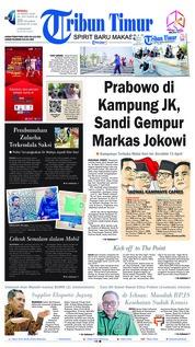 Cover Tribun Timur 24 Maret 2019