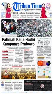 Cover Tribun Timur 25 Maret 2019