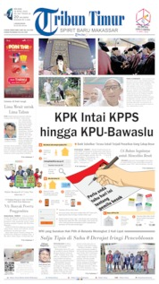 Cover Tribun Timur 16 April 2019
