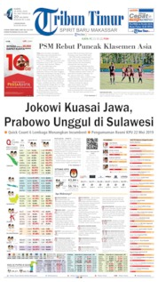 Cover Tribun Timur 18 April 2019